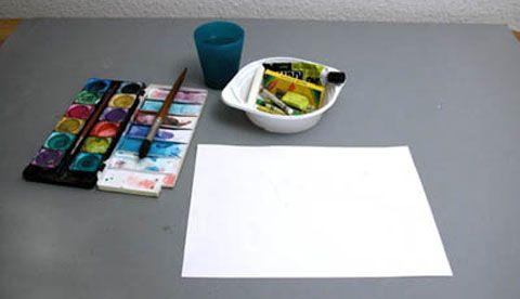 Malen mit Wachs: Leuchtende Linien