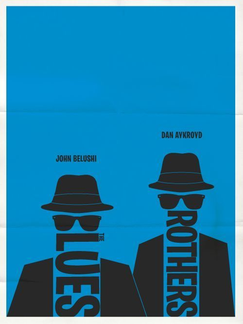 Blues Brothers by Hunter Langston minimailist love this movie – #Blues #Broth……