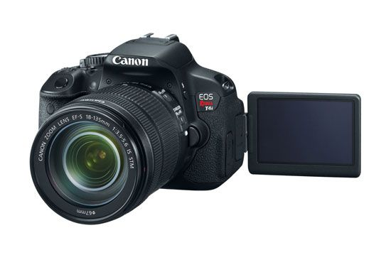 Canon's T4i is the first DSLR with a touchscreen