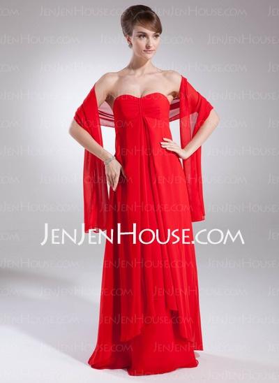 Bridesmaid Dresses - $90.99 - Empire Sweetheart Floor-Length Chiffon  Charmeuse Bridesmaid Dresses With Ruffle (007000994) http://jenjenhouse.com/Empire-Sweetheart-Floor-length-Chiffon--Charmeuse-Bridesmaid-Dresses-With-Ruffle-007000994-g994