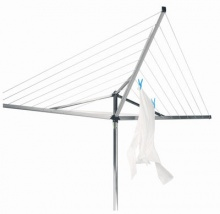 Brabantia Rotary Dryer 30m- yet another fantastic product from Brabantia that will give you the drying space capability of much larger washing lines, yet stays true to its compact design and won't take away that precious garden area that you can still enjoy when the sun is shining.