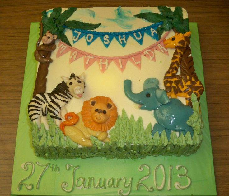 jungle themed christening cake http://www.elisabethscakes.com.au