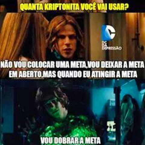#zuera #geek #nerd #BatmanvsSuperman #Batman #Superman #Filme #Dc #Dccomics #comics #quadrinhos #lexlutor #kriptonita