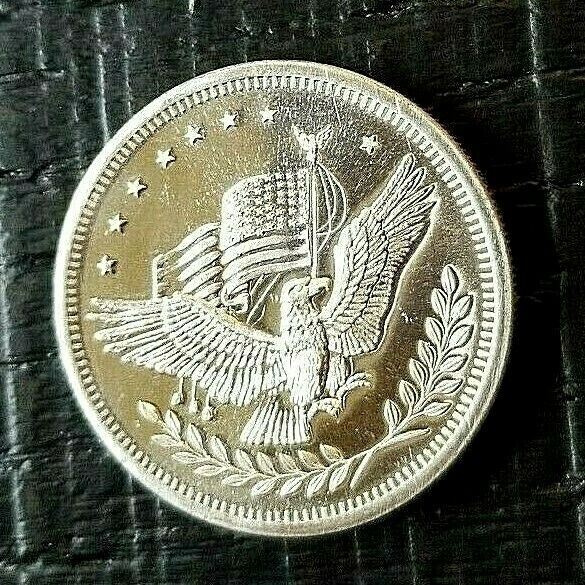 1 American Eagle Silver Trade Unit 1 Troy Oz 999 Fine Silver Round Bullion Silver Rounds Fine Silver Bullion