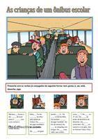 As Crianças de um ônibus escolar