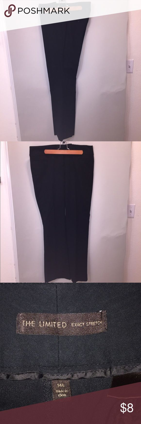 Limited Exact Stretch modern rise tall trousers The best pant The Limited ever made. The lay flat and stay in shape. No diaper butt loss of shape after a few hours. Great thick flat waist band. Straight leg. Classic. Like you. The Limited Pants Trousers