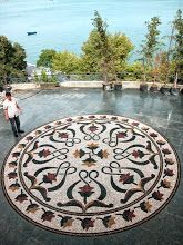 Photo: #pebblemosaic floors by MATUSAN,the famous Turkish mosaic company
