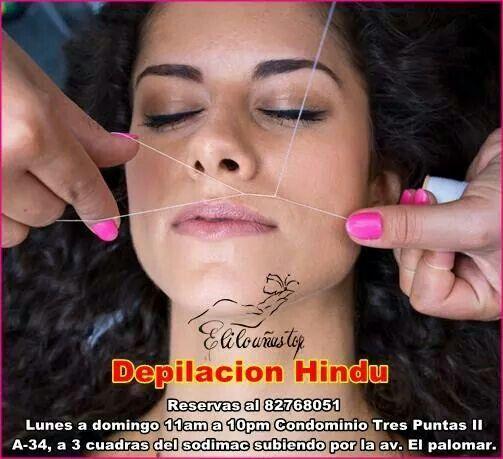 Depilación hindu- Facial $10.000 Si la cera te llena de granitos molestos o tienes una piel muy sencible esta tecnica es ideal para ti. Reserva tu hora al numero publicado.