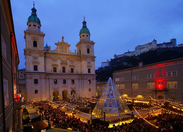Christmas in Salzburg, Austria. I LOVED all of the Christkindlmarkt's and the gluwein (sp?). So many wonderful memories of both Germany and Austria.