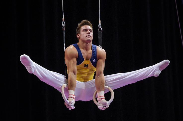 Sam Mikulak, Olympic and University of Michigan Gymnast, at the 2013 National Championships
