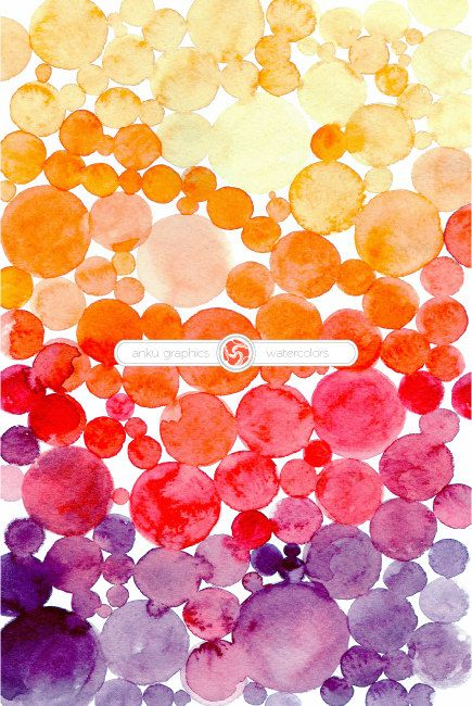 OMBRE WATERCOLOR BUBBLES- hand painted watercolor background for instant download, watercolor sheet, photo overlay by ankugraphics on Etsy