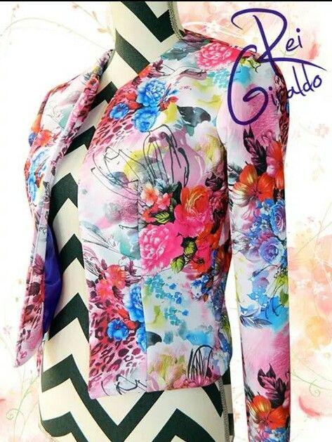 Casual jacket #ReiGiraldo #flower & #Trendy