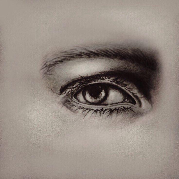 Глаз. Карандаши H - 6 B + photoshop