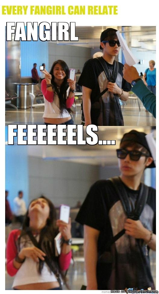 I'd be dead if I was walking right behind Sunggyu. lol this girl just made my day. I wanna be friends with her lol