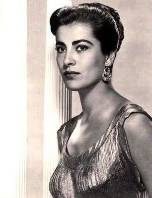 Greek beauty Irene Papas, a beauty as austere and balanced as the doric order style
