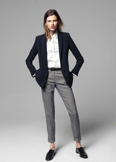 Crepé suit blazer
