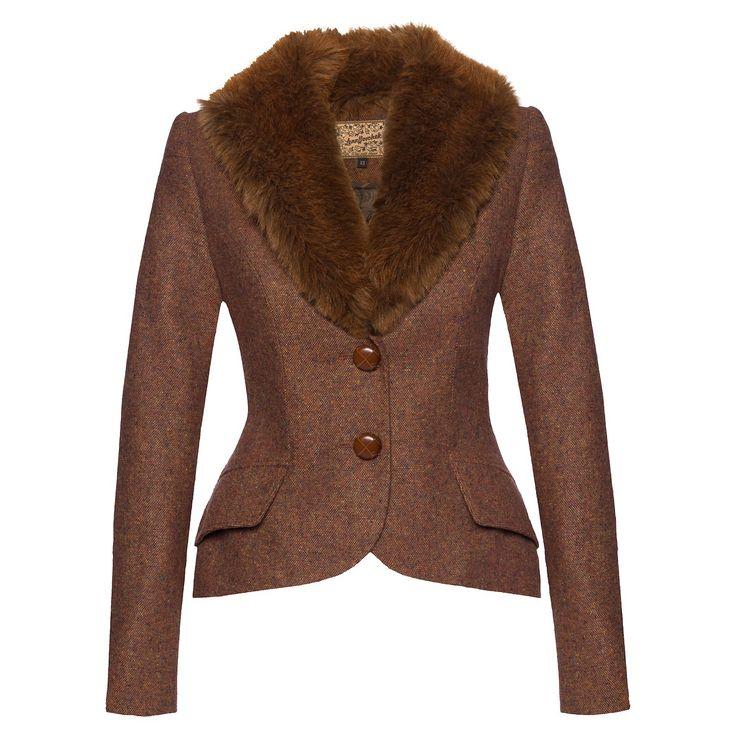 Berkeley Blazer tweed rust - Online Shop - Lena Hoschek Online Shop