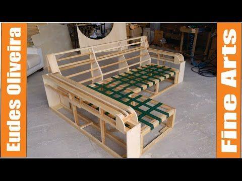 Wooden frame for upholstery - YouTube