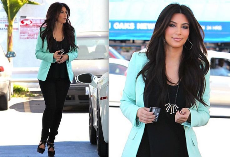 ashes into fashion | Dallas Fashion Blog : Mint Green Blazer Genesis Rodriguez + Kim K Inspired