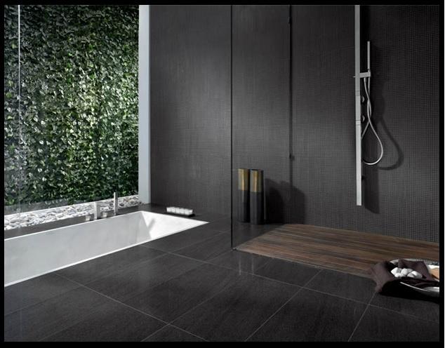167 best images about tiles on pinterest ceramics for Charcoal bathroom designs
