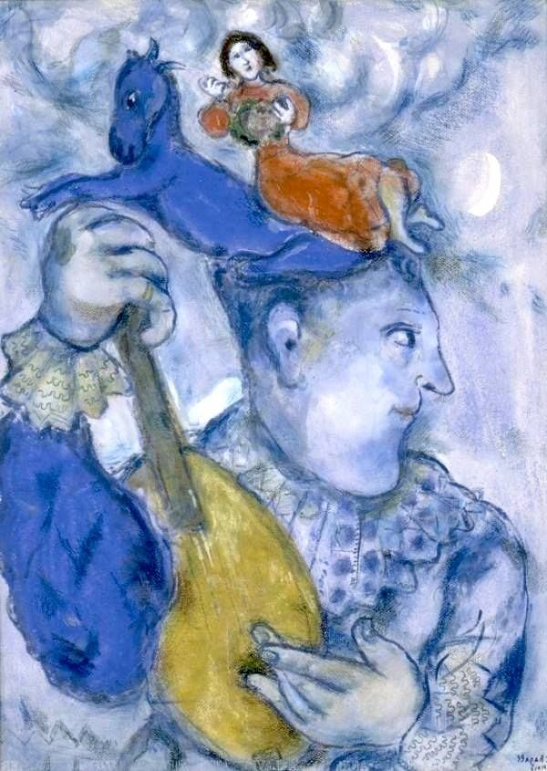Marc Chagall- Clown How to support #MarcChagall #art #painting with internet marketing blogging and education?