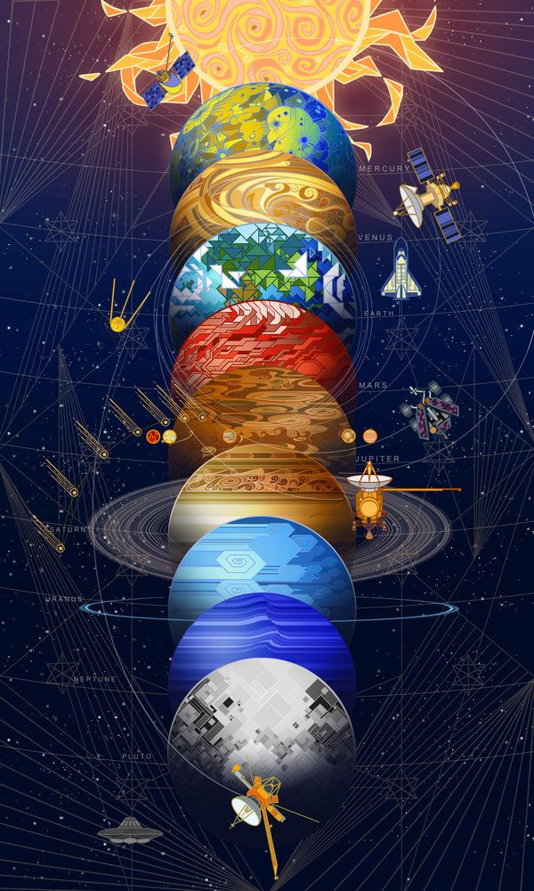 solar system for print by breath-art.deviantart.com on @DeviantArt