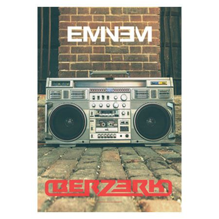 This Eminem poster will make you go Berzerk. The 30 x 40 fabric poster features the artwork and logo from his hit single Berzerk.