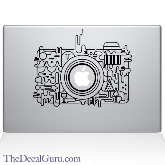 Abstract Camera Macbook Decal