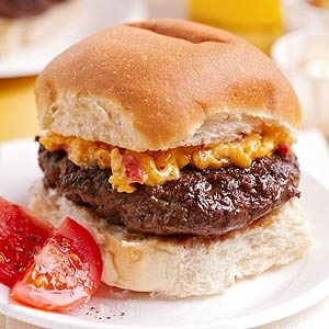 House-Made Burger with Pimento Cheese From Better Homes and Gardens, ideas and improvement projects for your home and garden plus recipes and entertaining ideas.