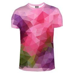 T-Shirt Violet Geometric