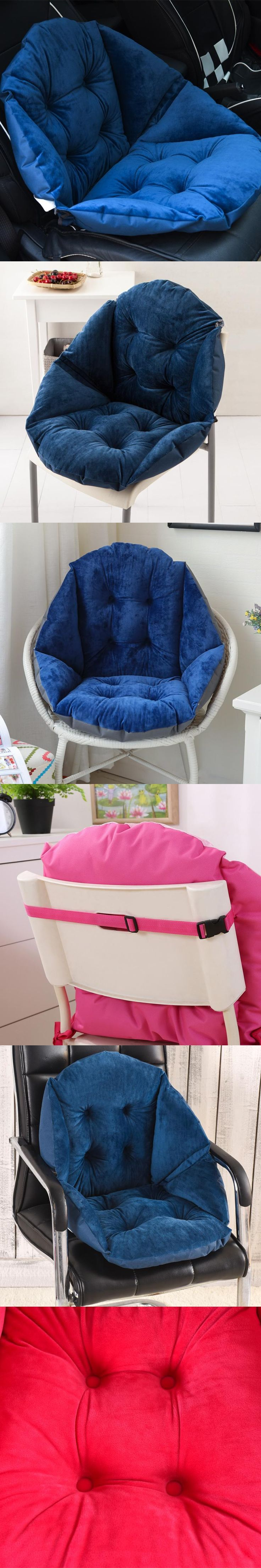 Newest Plush Shell Design Seat Cushion Lumbar Back Support Cushion Pillow for Office Home Car Seat Chair 2 Size