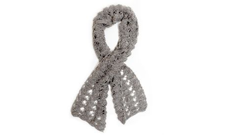 Knitting pattern: twisted scarf