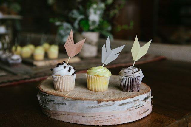 DIY arrow cupcake toppers pow wow party