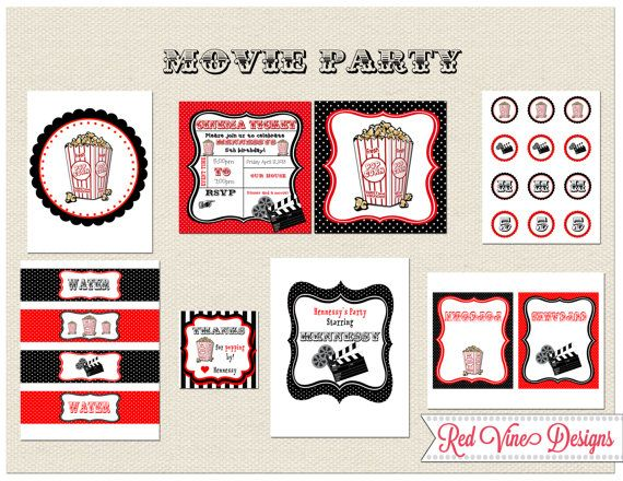 Movie Themed Printable Party.