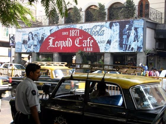 Amazing tourist attraction , Leopald Cafe in Mumbai India. 2011