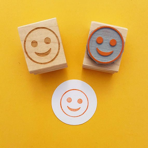 Emoji Rubber Stamp  by Skull and Cross Buns