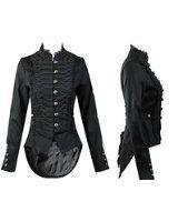 H&R Steampunk Gothique Queue de Pie Manteau de femme nouvelle