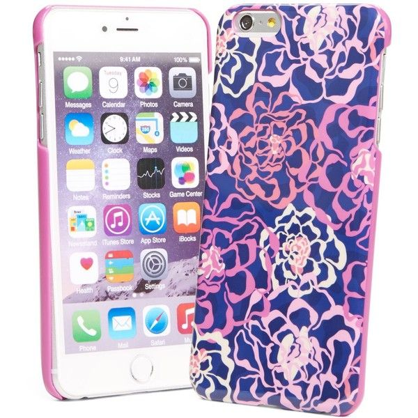 Vera Bradley Snap On Case for iPhone 6 Plus in Katalina Pink ($38) ❤ liked on Polyvore
