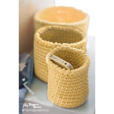 Free Beginner Crochet Basket Pattern | Lily | Yarnspirations | Free Pattern