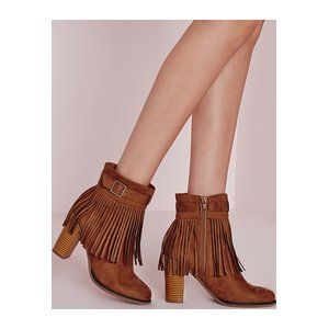 We're falling head over heels with these tassel trim ankle boots. With an  always loved block heel, faux suede finish and comfy fit, these are the  perfect ...