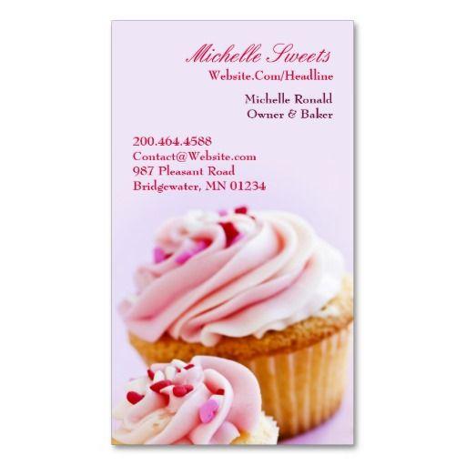 De Bedste Billeder Fra Bakery Business Card Templates På Pinterest - Cupcake business card template