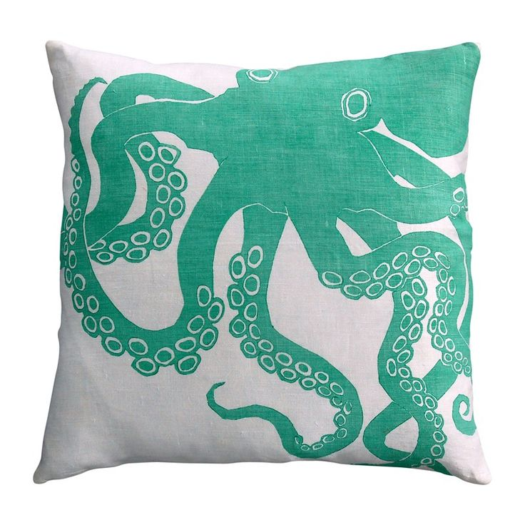 Turquoise Octopus Pillow // Pure Home  Part of Michael Wurm, Jr.'s Tastemaker Collection