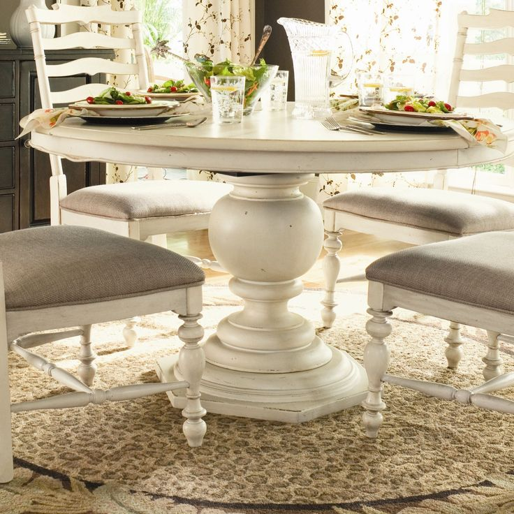 paula deen home paulas round pedestal dining table in linen. beautiful ideas. Home Design Ideas