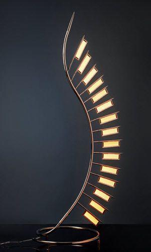 design metal floor lamp ( OLED ) PALM FROND liternity