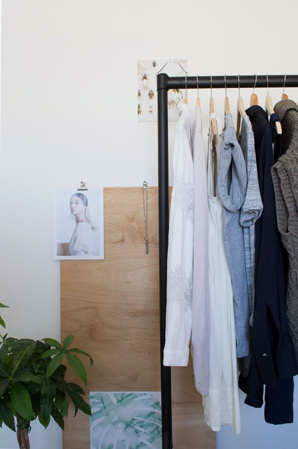 Minimal Bedroom Styling Clothes Rail