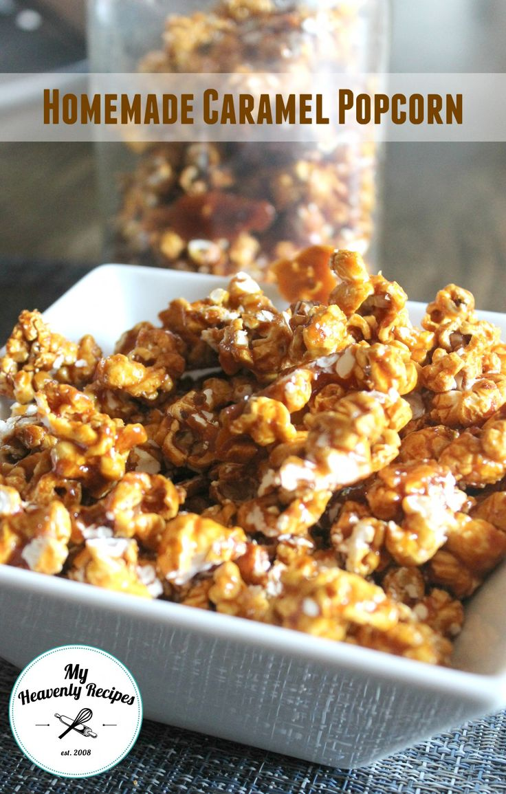 Homemade Caramel Popcorn Recipe - a fun and easy way to get the family in the kitchen. This popcorn recipe is AMAZINGly addicting!