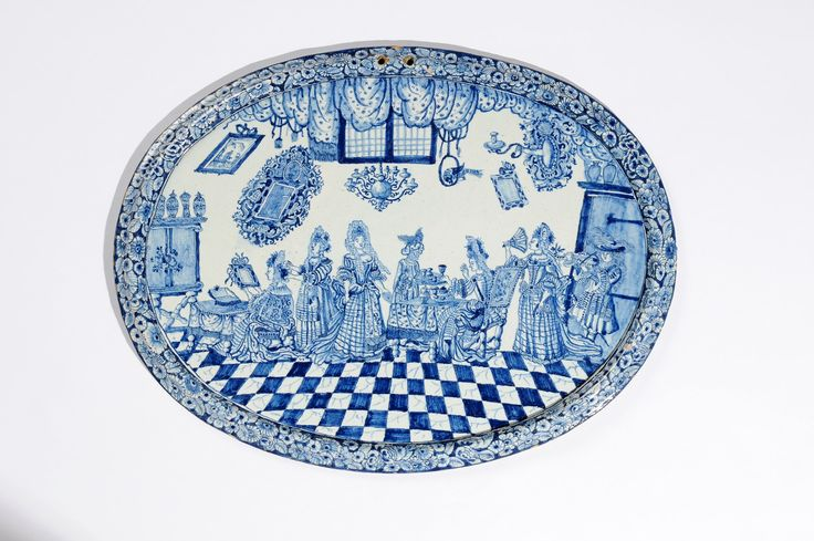Collection item • D8232. Blue and White Large Oval Plaque Probably Rotterdam, circa 1700-1710 39.2 x 51.3 cm. (15 3/8 x 20 3/16 in.)     Share      Download Download larger image    Images on this website are licensed under a Creative Commons Attribution-NoDerivs 3.0 Unported License.