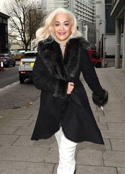 Rita Ora In Black Shearling Coat - The Cutest Coats For -9708