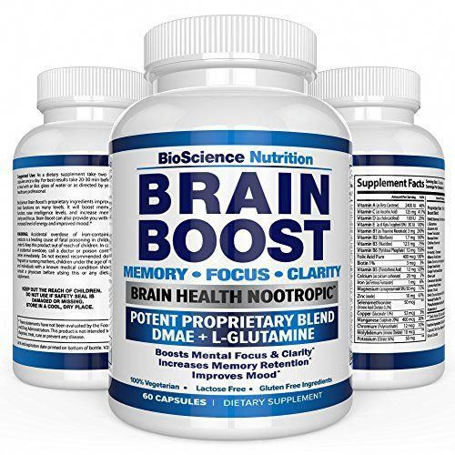 Brain Boost Nootropics for Memory Focus Clarity