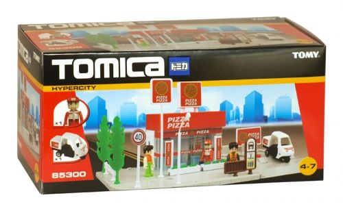 Tomy tomica pizza pizza playset